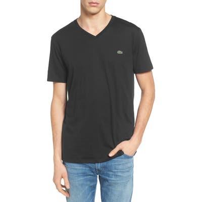 Lacoste Regular Fit V-Neck T-Shirt, Black