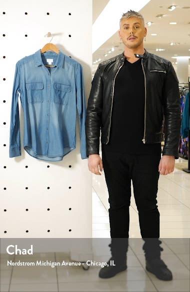 Button Front Cotton Chambray Shirt, sales video thumbnail