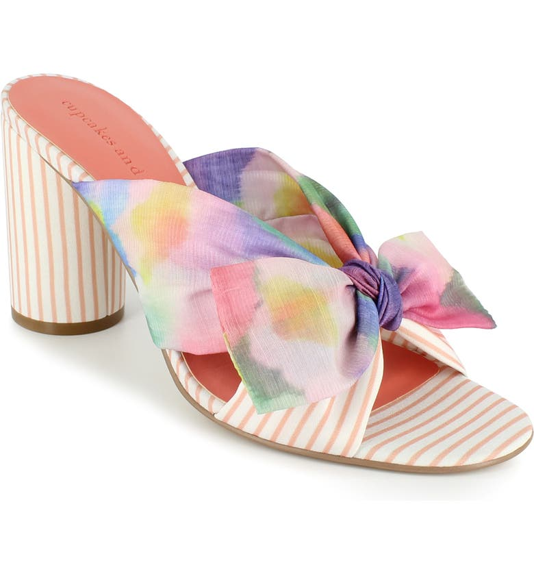 CUPCAKES AND CASHMERE Orinda Slide Sandal, Main, color, RAINBOW MULTI FABRIC