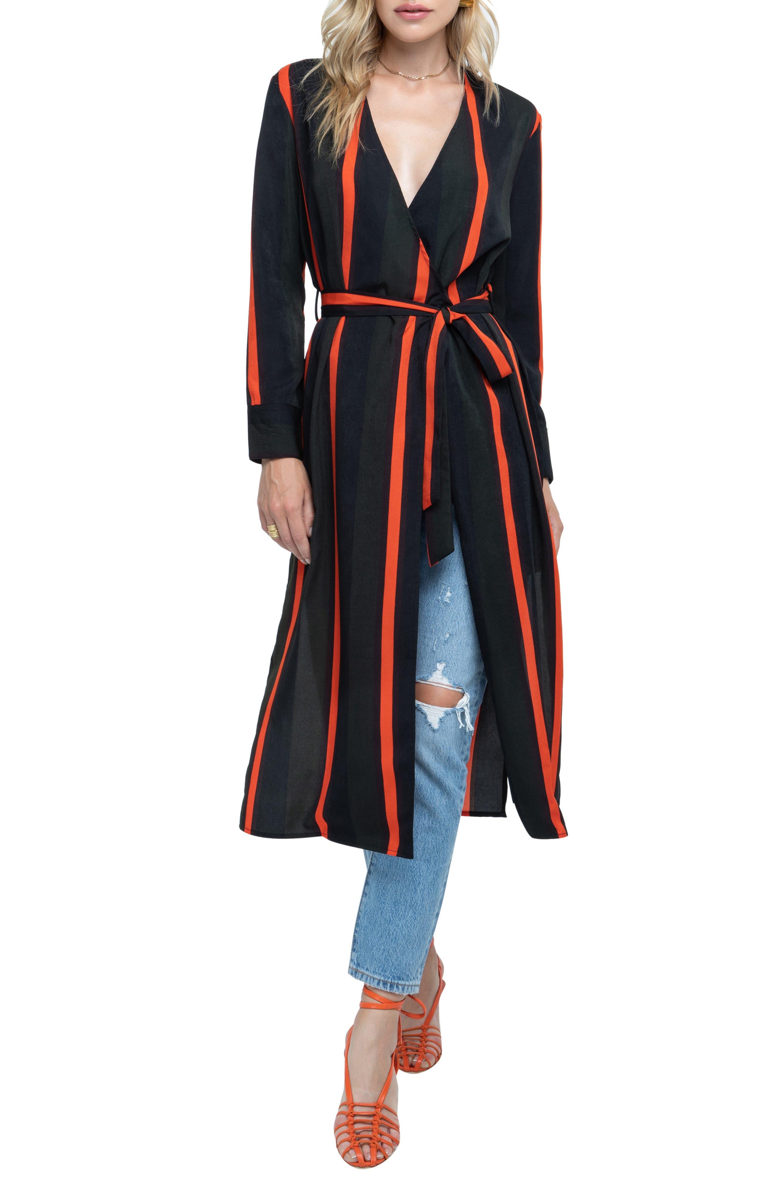 ,                             Stripe Wrap Dress,                             Alternate thumbnail 6, color,                             300