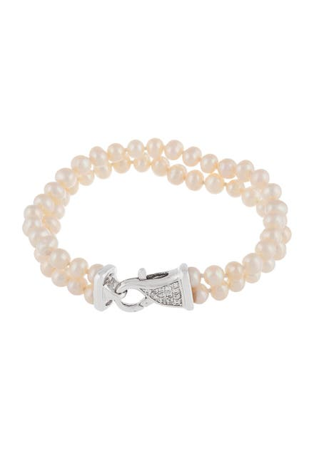 Image of Splendid Pearls 5-5.5mm Cultured Freshwater Pearl Double Row Bracelet