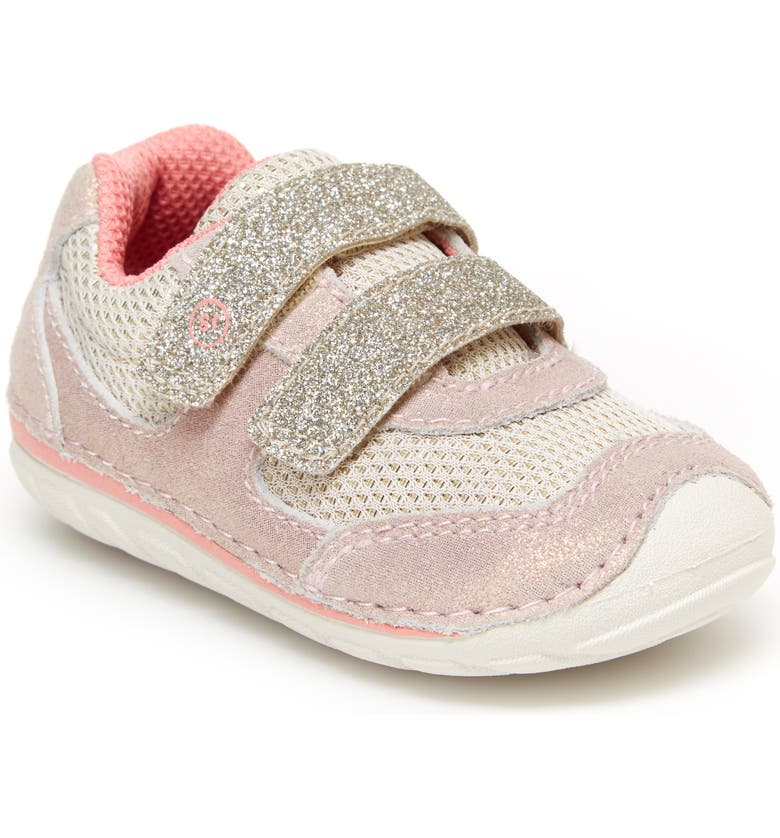 STRIDE RITE Soft Motion<sup>™</sup> Mason Sneaker, Main, color, TAUPE/CORAL