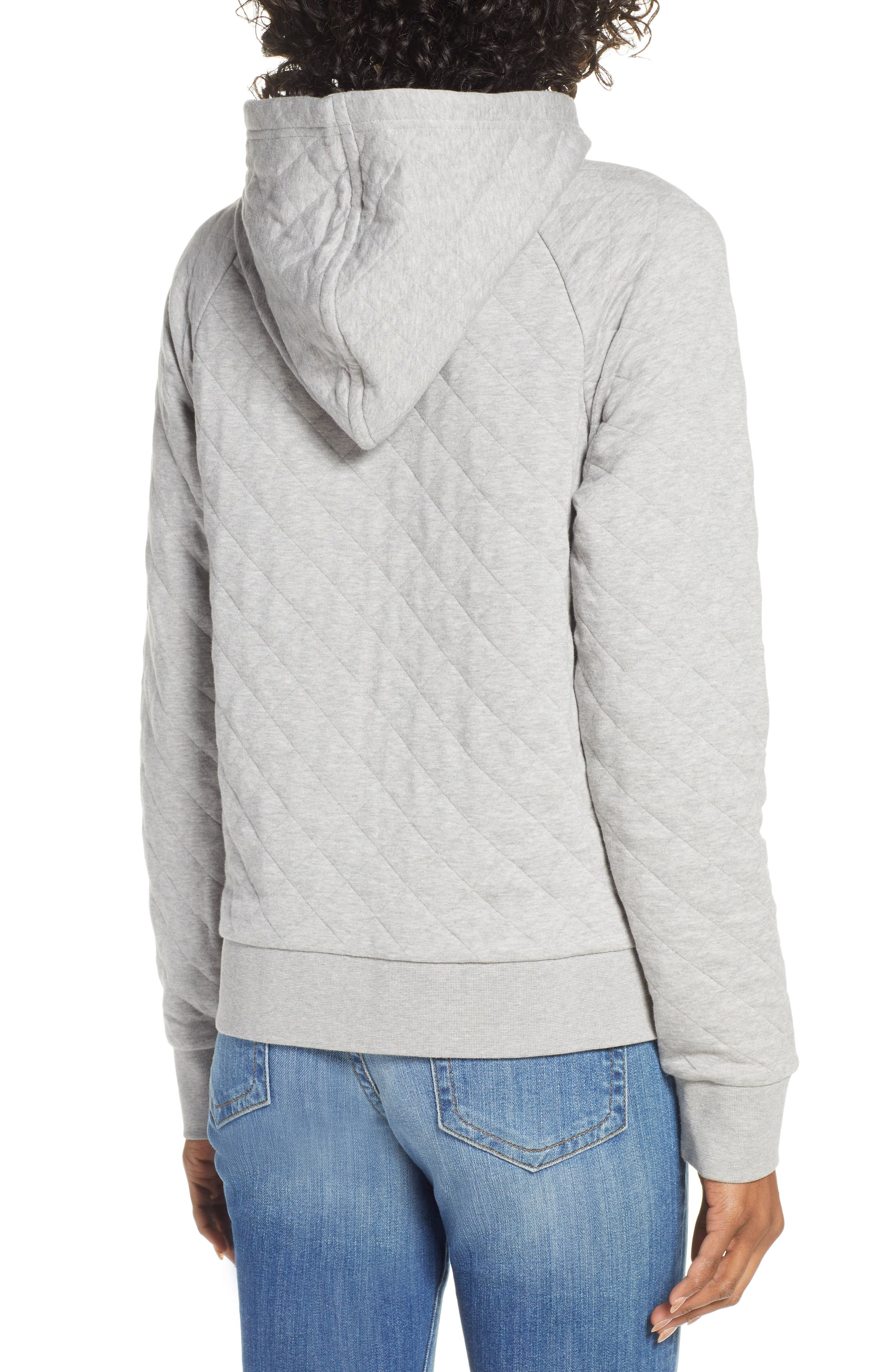 ,                             Organic Cotton Blend Quilted Hoodie,                             Alternate thumbnail 2, color,                             DFTG DRIFTER GREY