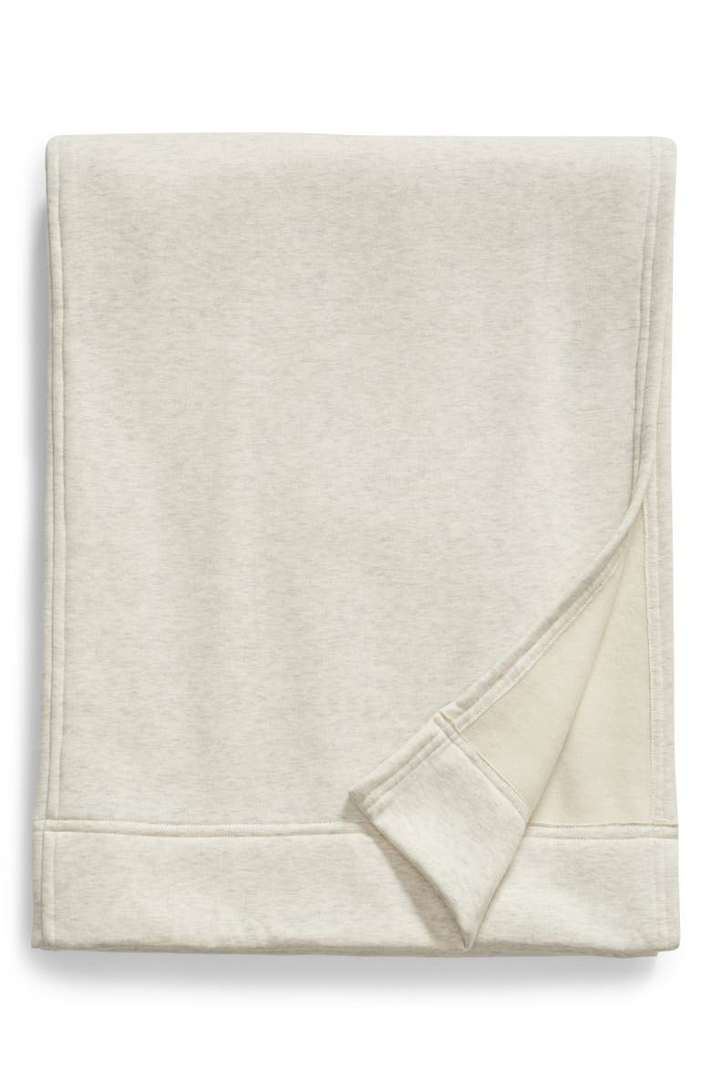BP. Sweatshirt Blanket, Main, color, BEIGE OATMEAL LIGHT HEATHER