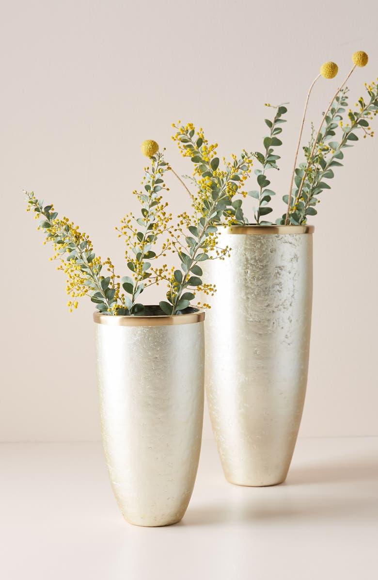 ANTHROPOLOGIE Ritva Vase, Main, color, SILVER-SMALL