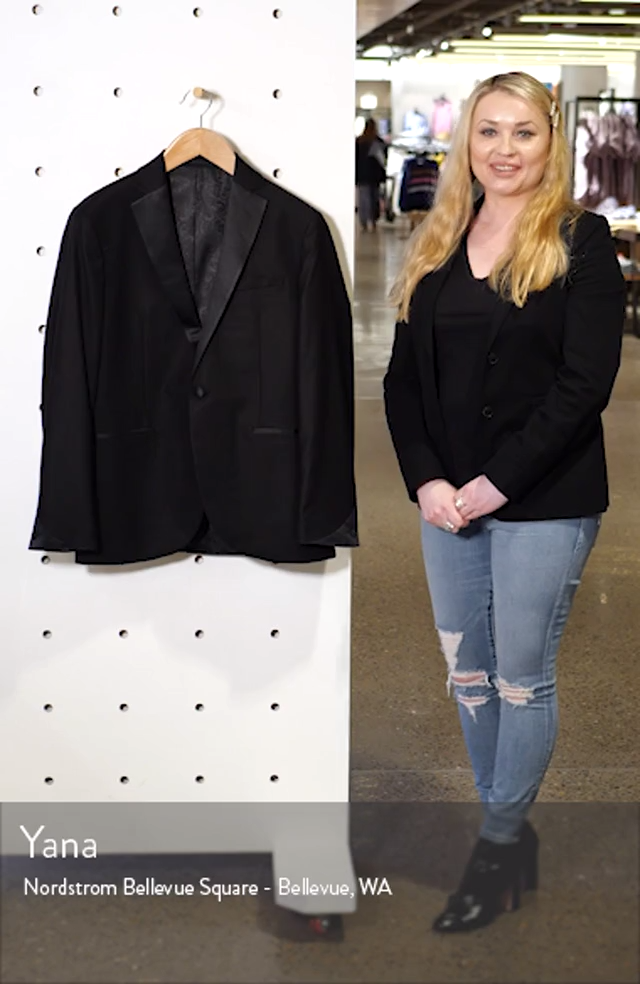 Slim Fit Tuxedo Jacket, sales video thumbnail