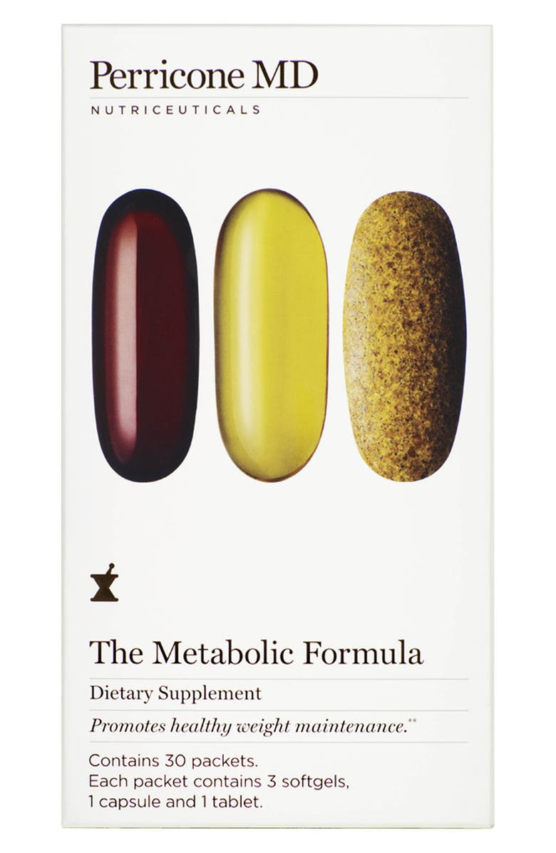PERRICONE MD The Metabolic Formula Dietary Supplement Packets, Main, color, NO COLOR