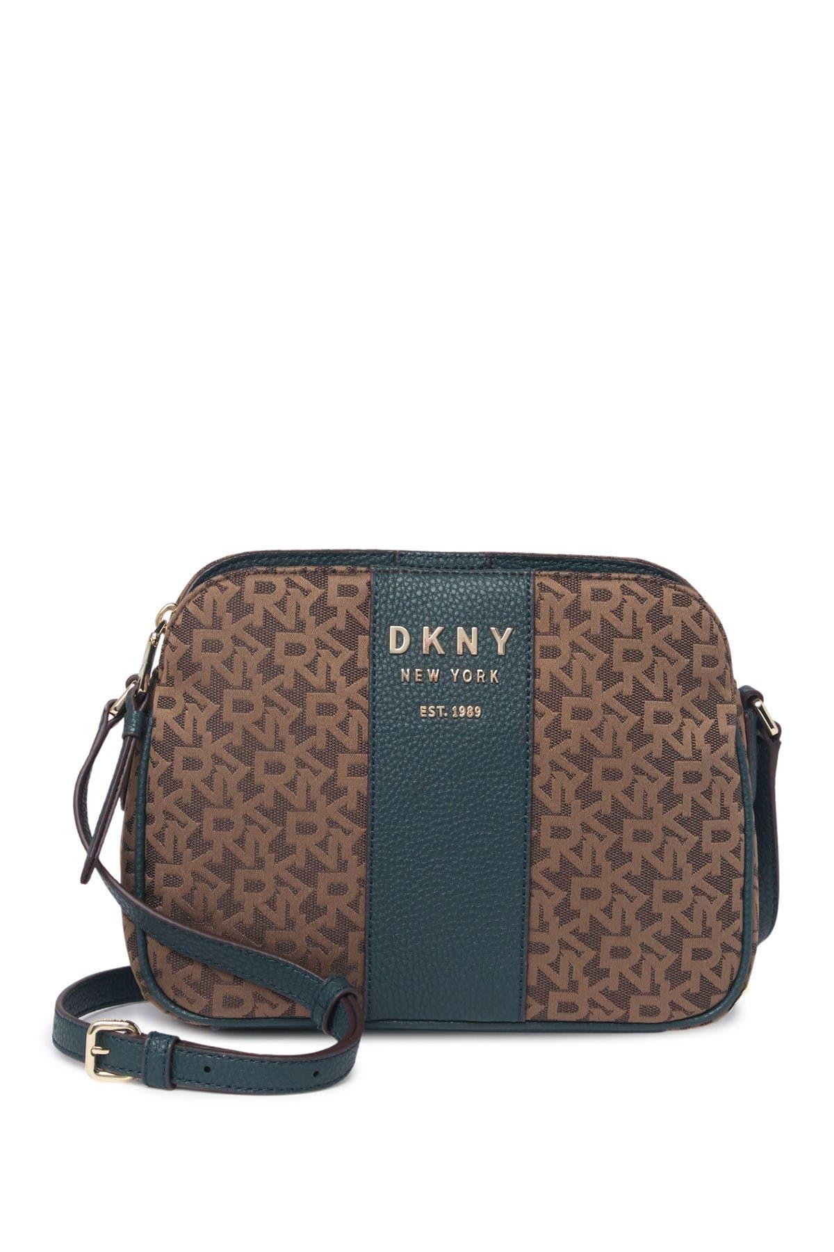 Image of DKNY Noho Logo Print Crossbody Bag
