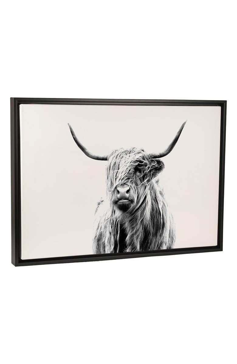 ICANVAS Portrait of a Highland Cow by Dorit Fuhg Giclée Print Canvas Art, Main, color, 001