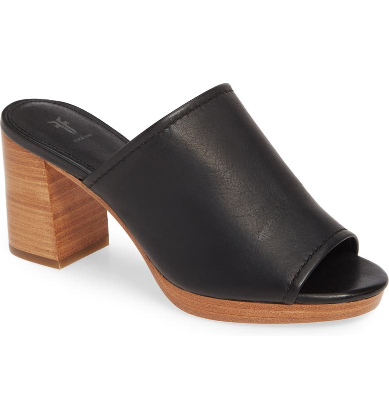 FRYE Blake Mule, Main, color, BLACK LEATHER