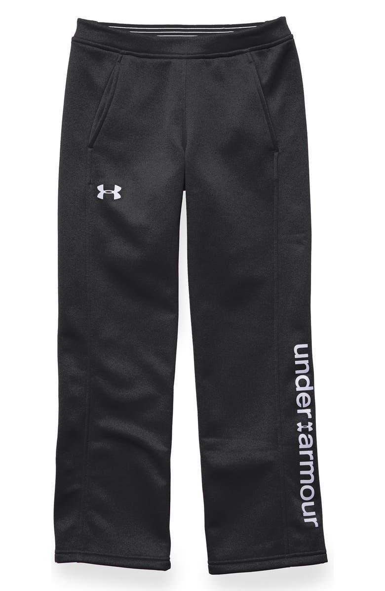 UNDER ARMOUR 'Storm Armour<sup>®</sup>' Water & Wind Resistant Fleece Pants, Main, color, 001