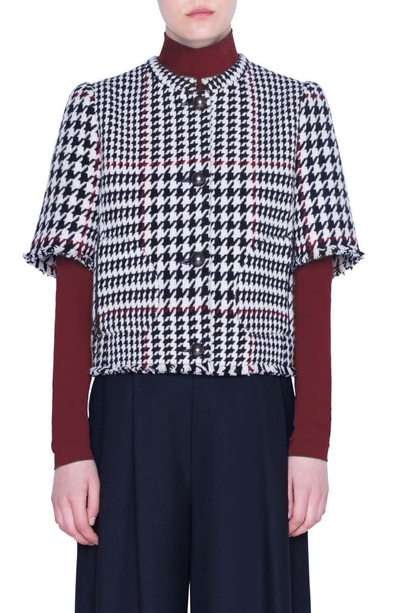 AKRIS PUNTO Glen Check Wool Blend Jacket, Main, color, XL GLEN CHECK