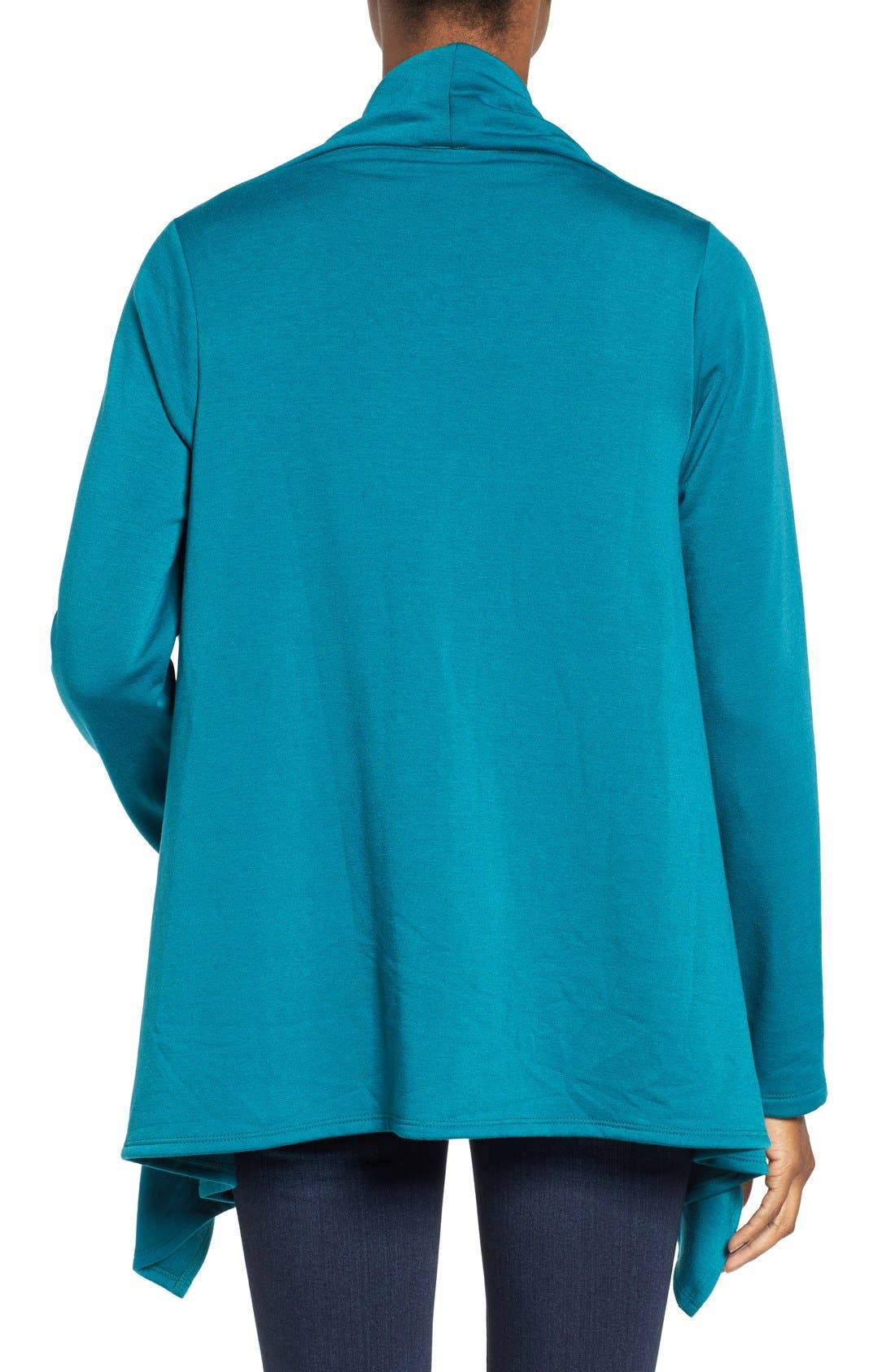 ,                             One-Button Fleece Wrap Cardigan,                             Alternate thumbnail 101, color,                             369