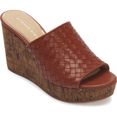 Etienne Aigner Devin Wedge Slide Sandal- Brown