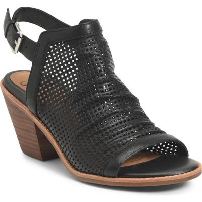 Sofft Milly Perforated Sandal, Black