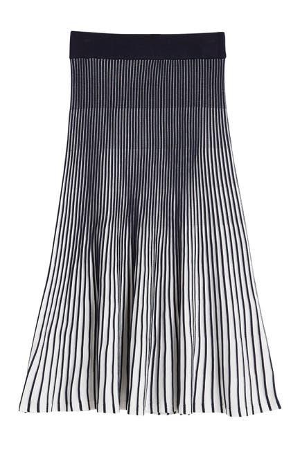 Image of NANETTE nanette lepore Pleated Knit Midi Skirt