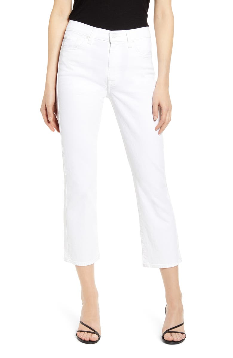 7 FOR ALL MANKIND<SUP>®</SUP> High Waist Crop Slim Jeans, Main, color, PRINCE ST