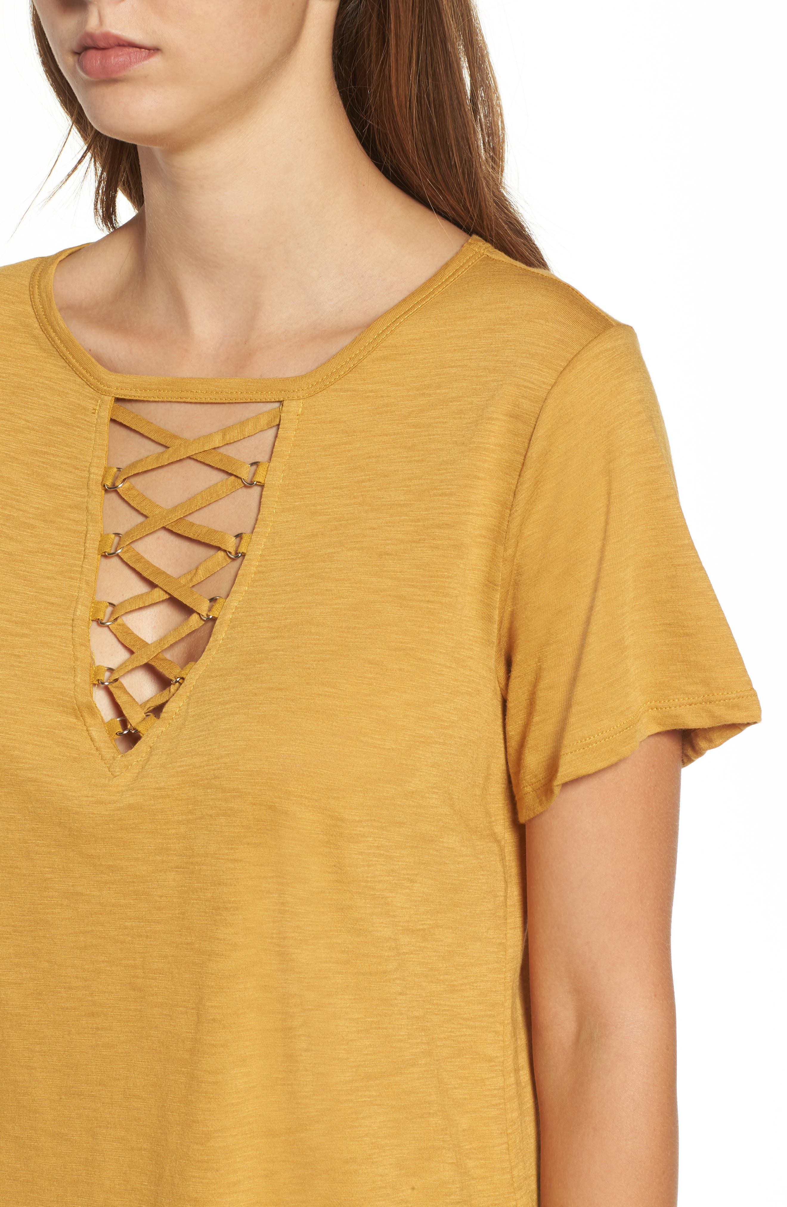 ,                             Grommet Lace-Up Tee,                             Alternate thumbnail 27, color,                             702