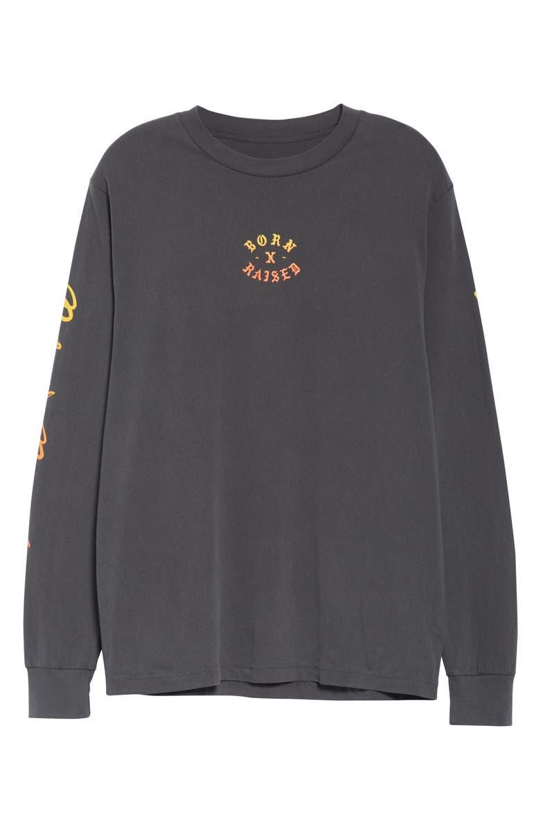 BORN X RAISED Scenic Beauty Long Sleeve T-Shirt, Main, color, BLACK