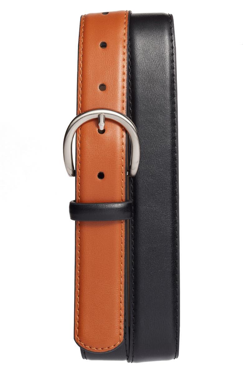 HALOGEN<SUP>®</SUP> Colorblock Leather Belt, Main, color, 235