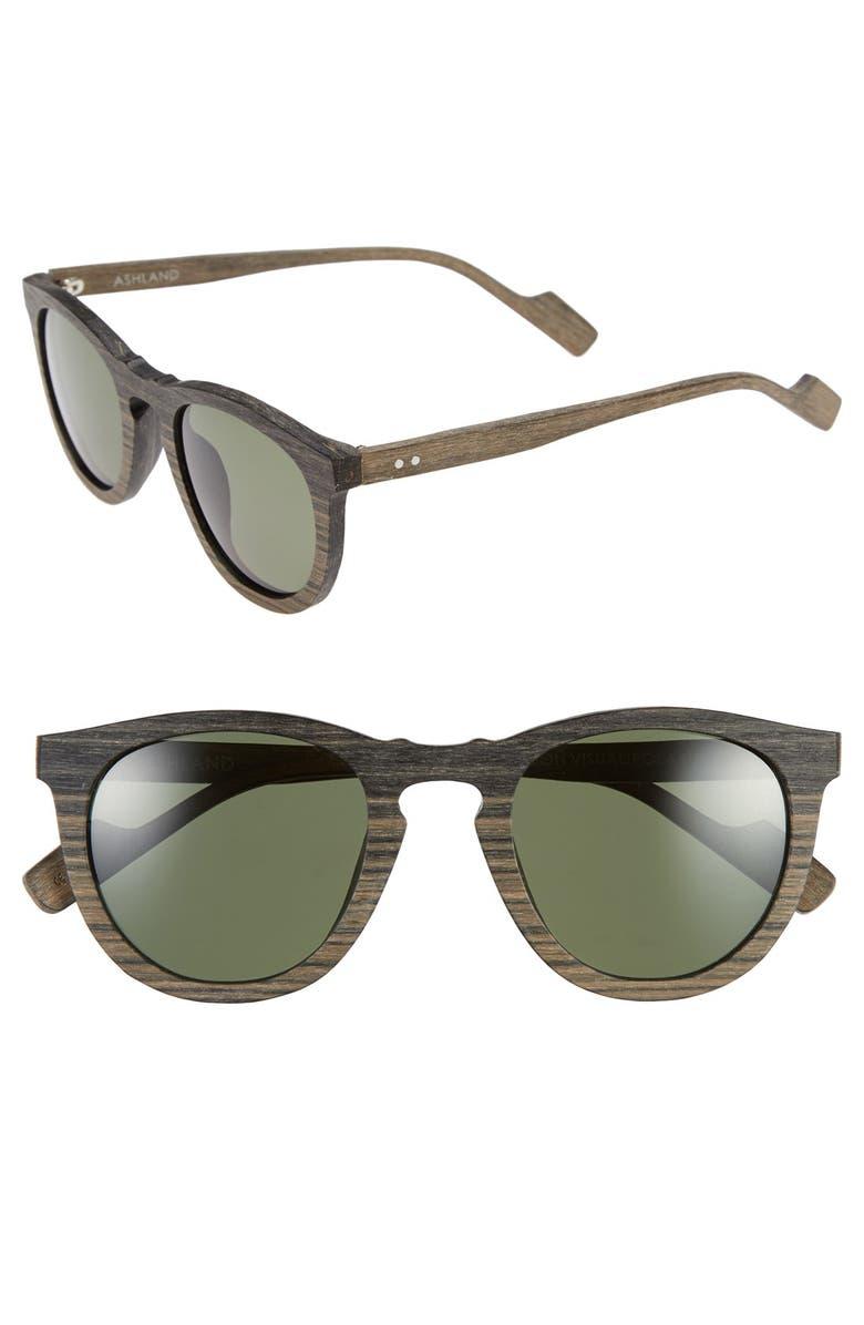 CRIMSON VISUAL 'Ashland' 49mm Polarized Sunglasses, Main, color, 009