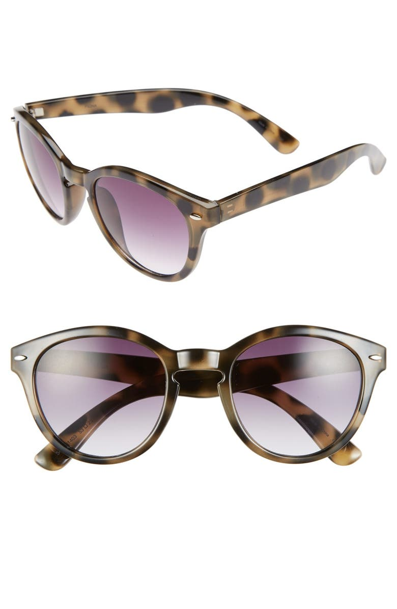 OUTLOOK EYEWEAR 'Fiona' 53mm Retro Sunglasses, Main, color, 200