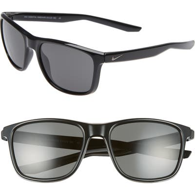 Nike Essential Endeavor 57Mm Square Sunglasses - Black/ Grey