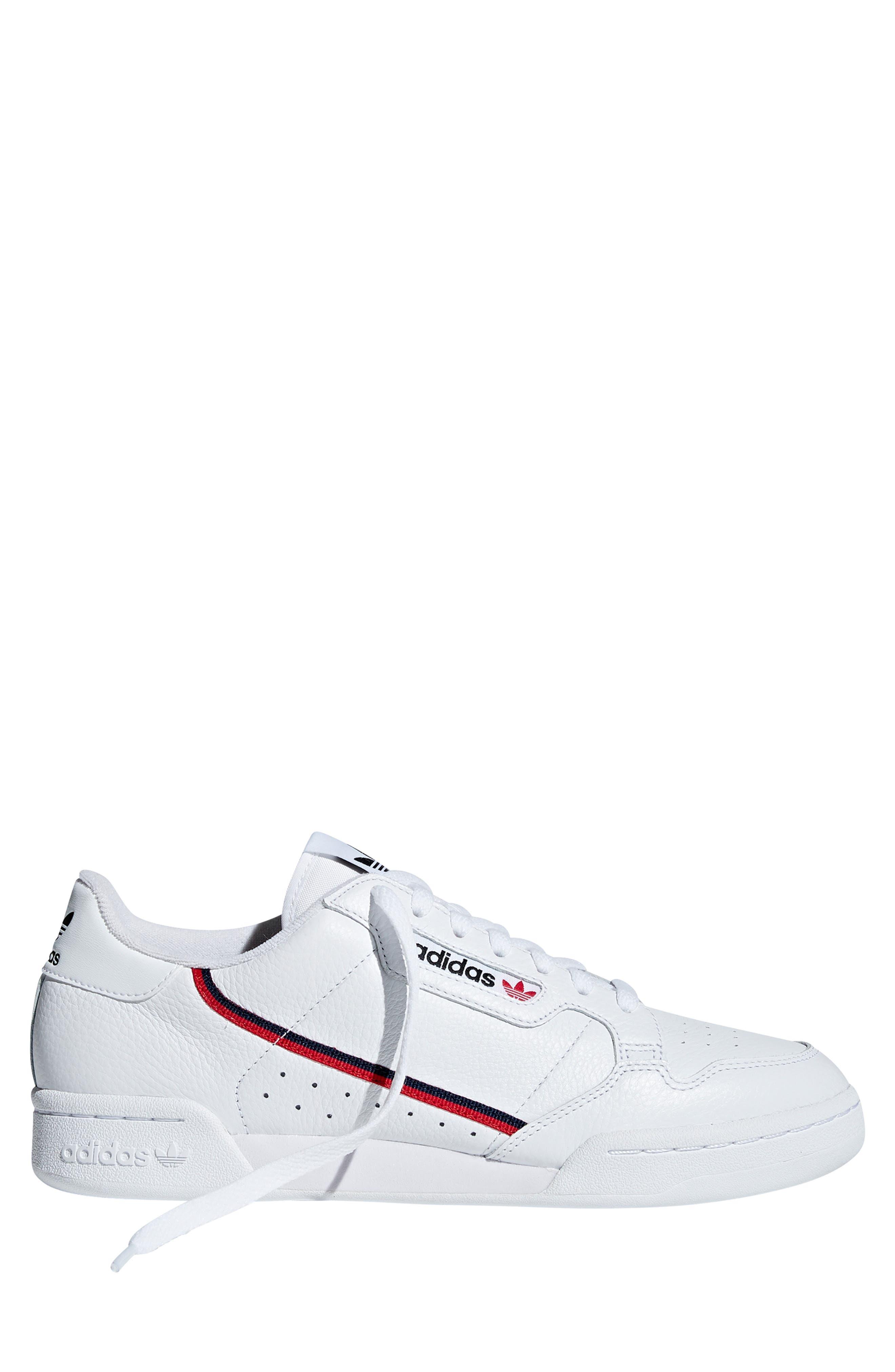 ,                             Continental 80 Sneaker,                             Alternate thumbnail 8, color,                             WHITE/ SCARLET