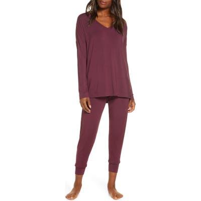 Nordstrom Moonlight Pajamas, Burgundy