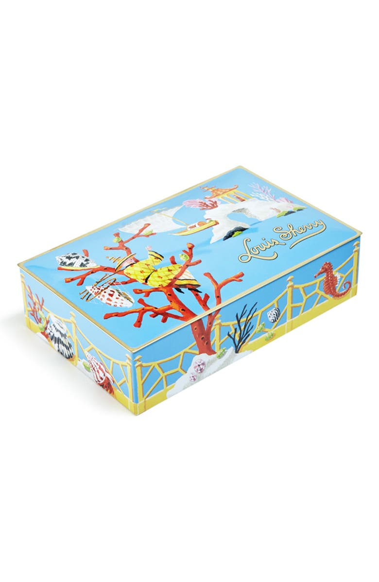 LOUIS SHERRY China Sea 12-Piece Chocolate Truffle Tin, Main, color, LIGHT BLUE CORAL