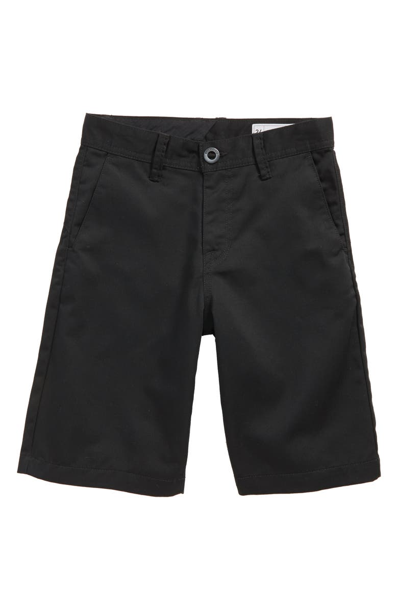 VOLCOM Chino Shorts, Main, color, BLACK