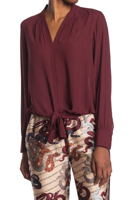 Image of Scotch & Soda V-Neck Top with Tie Detail