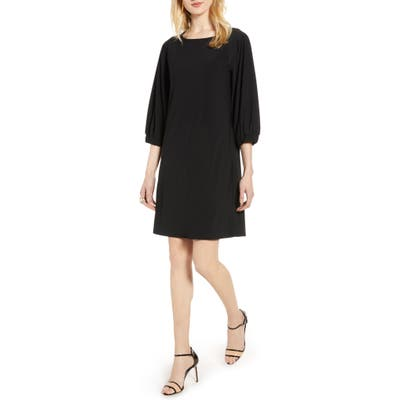 Halogen Flowy Shift Dress, Black