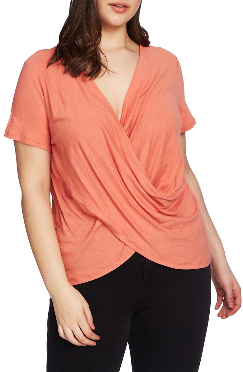 1.STATE Wrap Front Top, Main, color, CORAL COAST