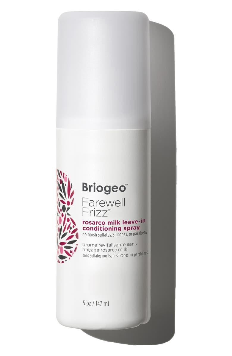 BRIOGEO Farewell Frizz Rosarco Milk Leave-In Conditioning Spray, Main, color, NO COLOR