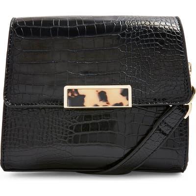 Topshop Skye Crocodile Crossbody Bag - Black
