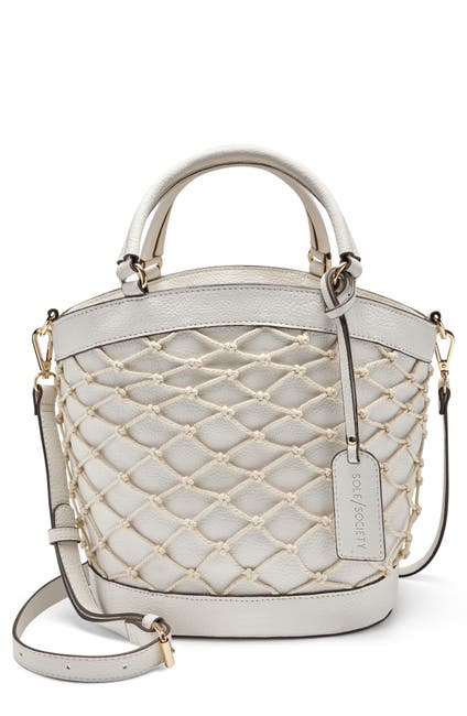 Image of Sole Society Jubah Net Wrapped Faux Leather Satchel
