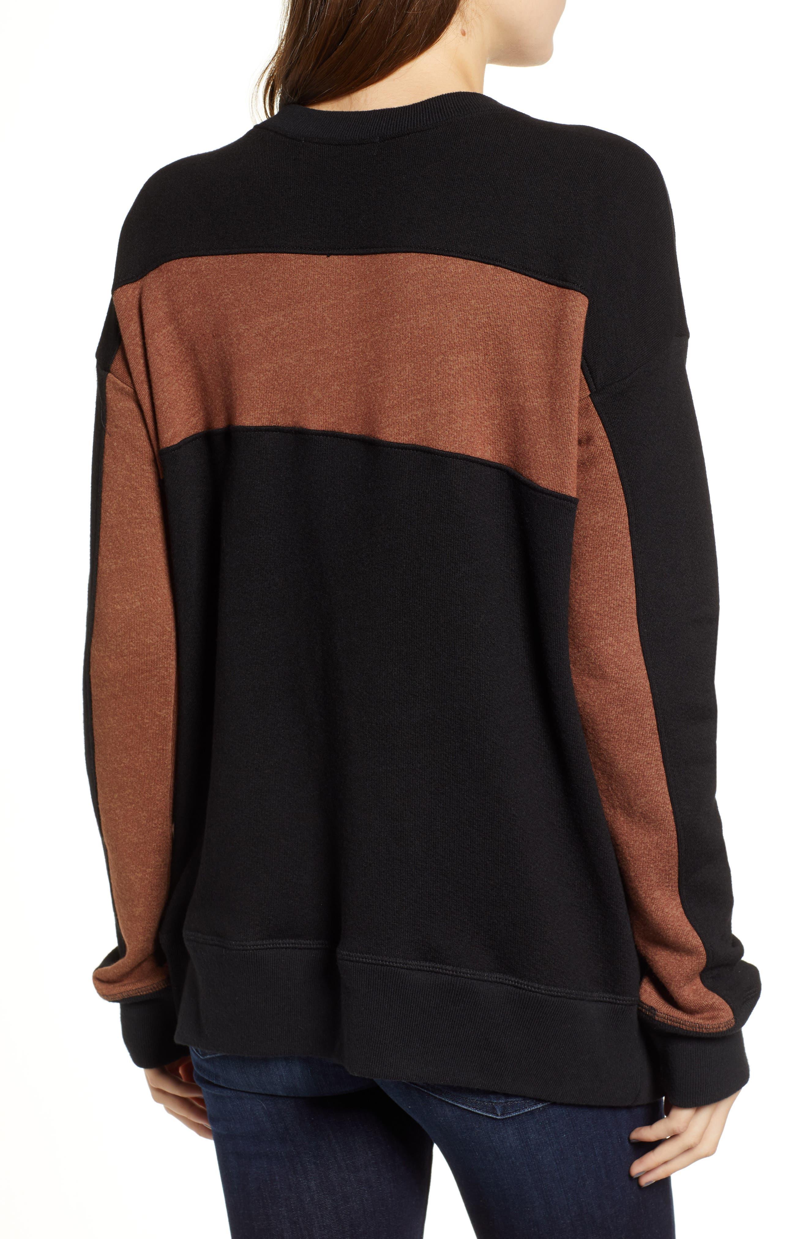 ,                             Stripe Quarter Zip Sweatshirt,                             Alternate thumbnail 2, color,                             002