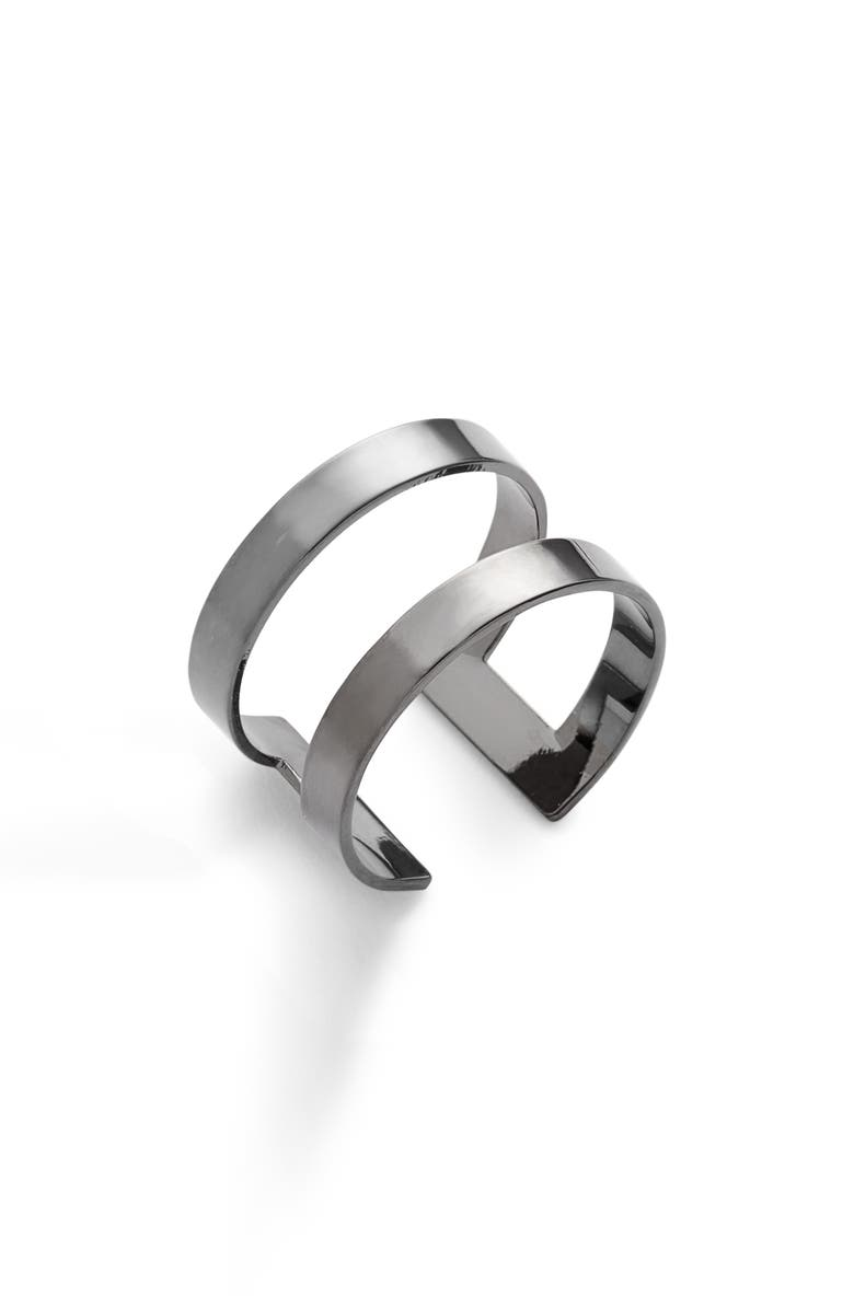 LISA FREEDE Athens Adjustable Ring, Main, color, GUNMETAL