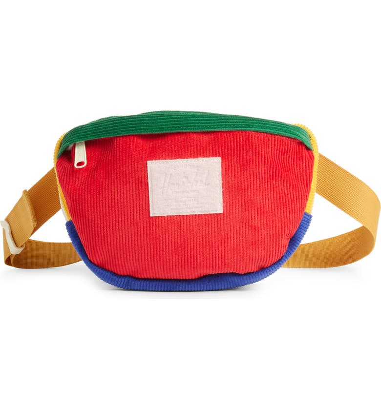 HERSCHEL SUPPLY CO. Nineteen Belt Bag, Main, color, RED/ YELLOW/ GREEN/ GOLD