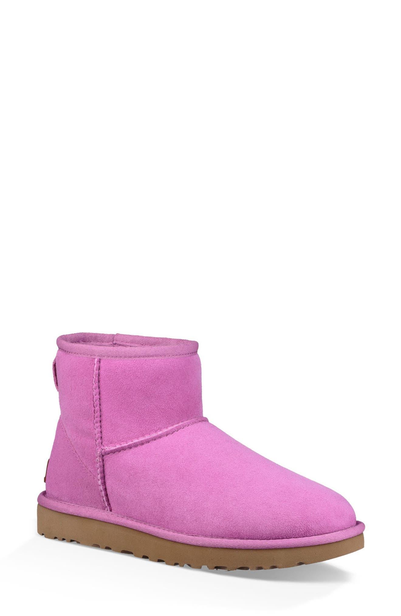 ,                             Classic Mini II Genuine Shearling Lined Boot,                             Main thumbnail 47, color,                             528