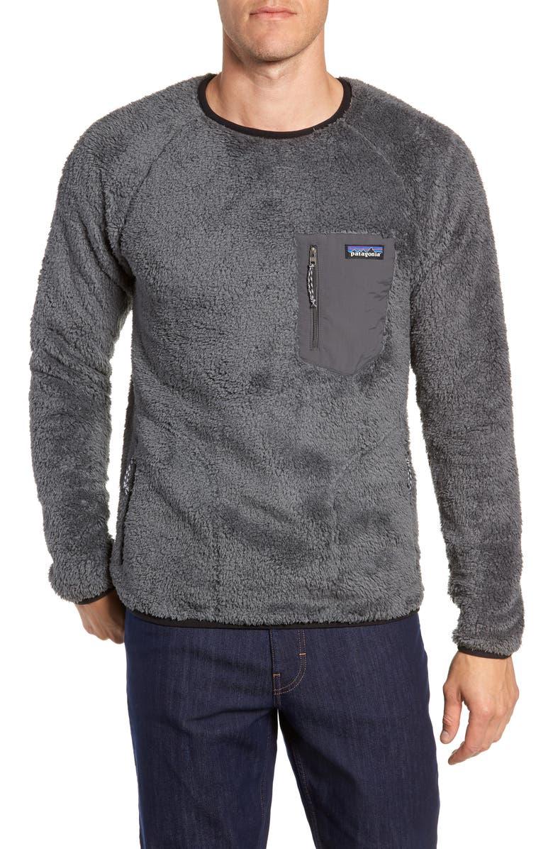PATAGONIA Los Gatos Fleece Crewneck Sweatshirt, Main, color, 020