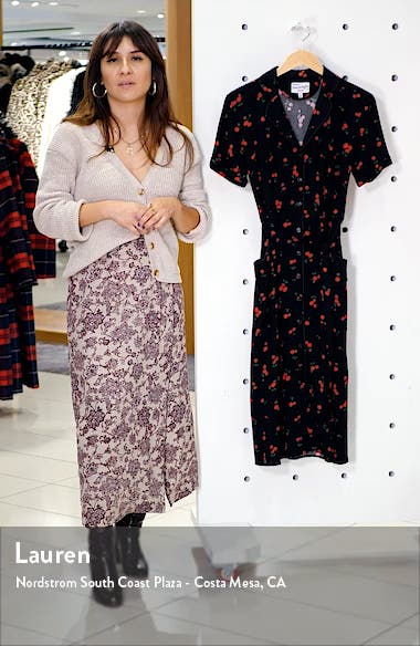 Maria Cherry Print Shirtdress, sales video thumbnail