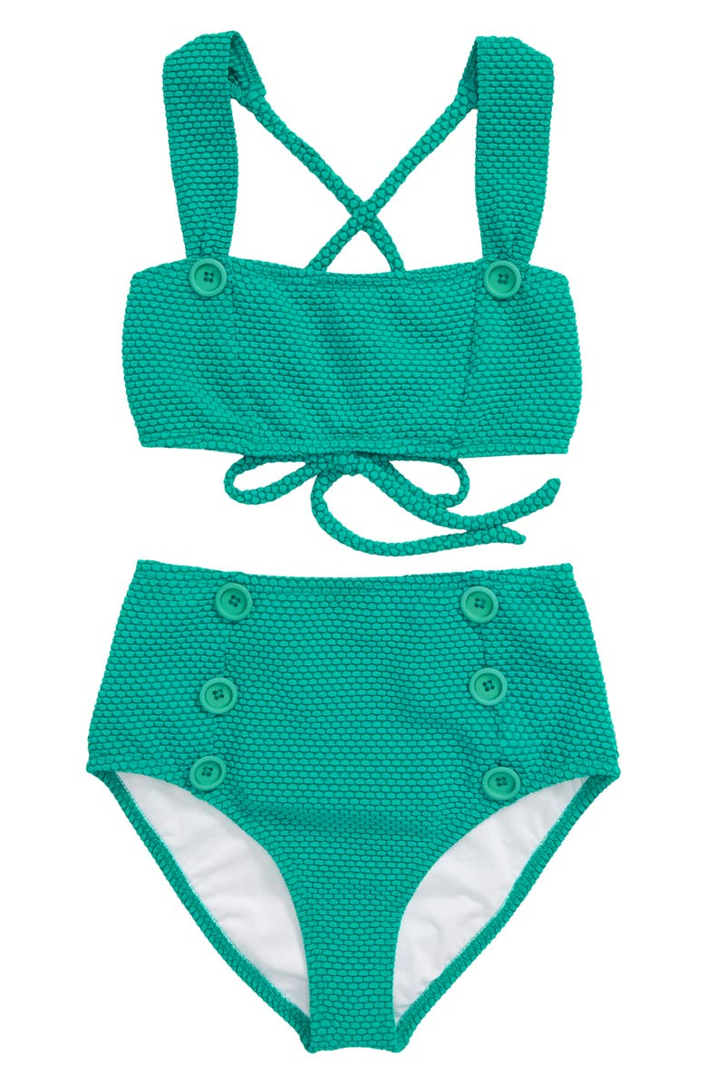HEART AND HARMONY Dots Two-Piece Swimsuit, Main, color, TEAL