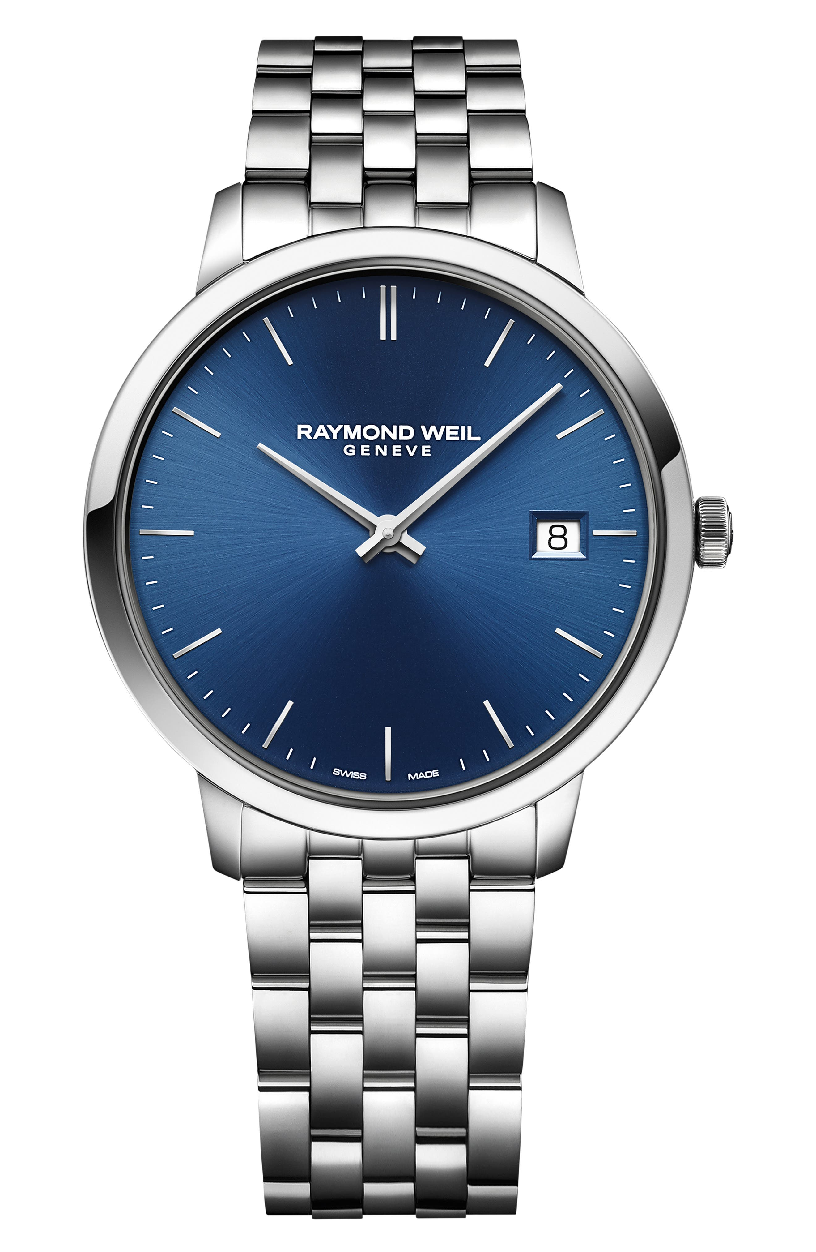 ,                             Toccata Bracelet Watch, 42mm,                             Main thumbnail 1, color,                             SILVER/ BLUE/ SILVER