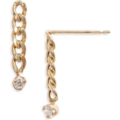 Zoe Chicco Small Curb Chain Earrings