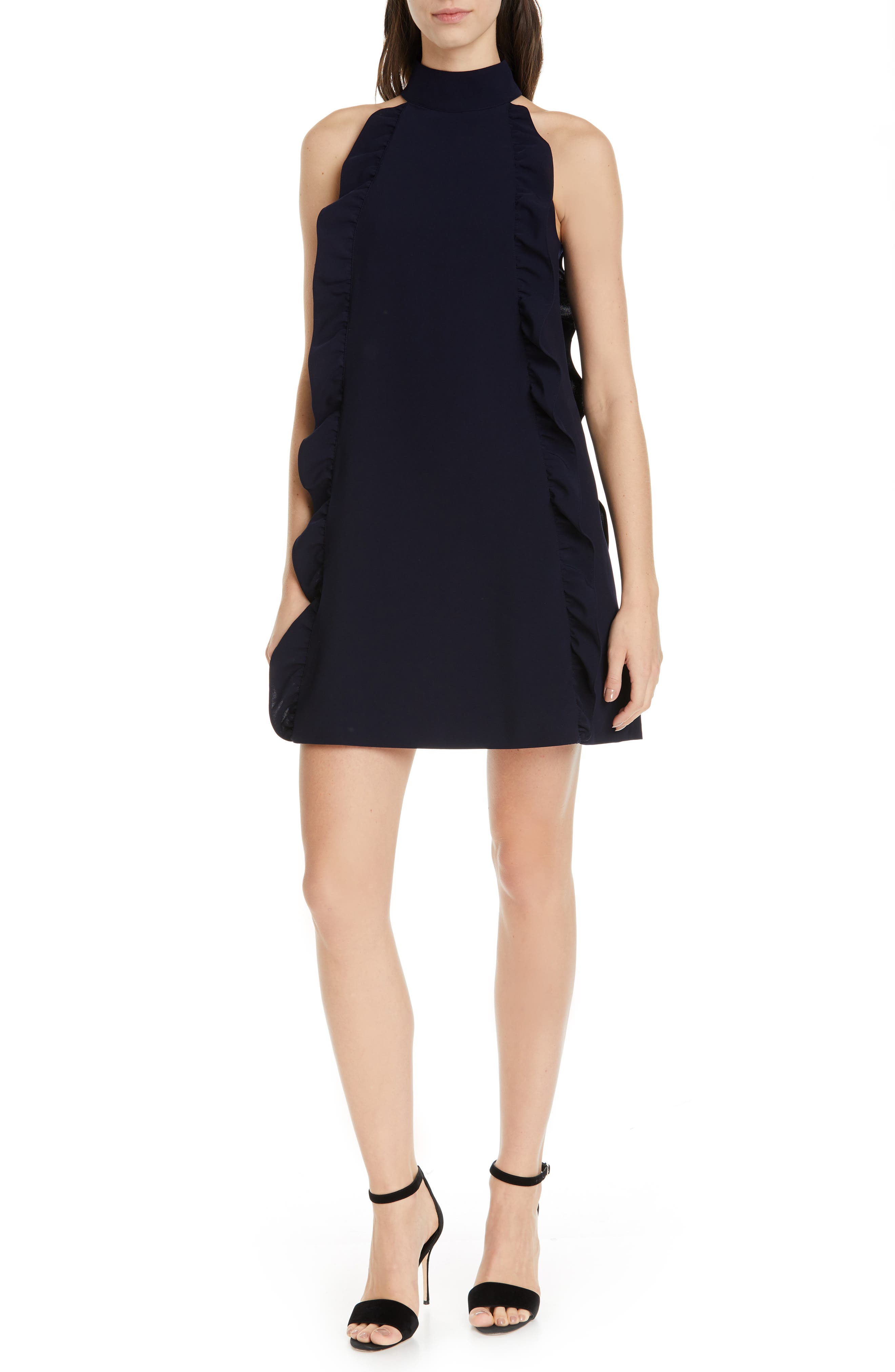 Ted Baker London Torriya Ruffle Tunic Dress, Blue