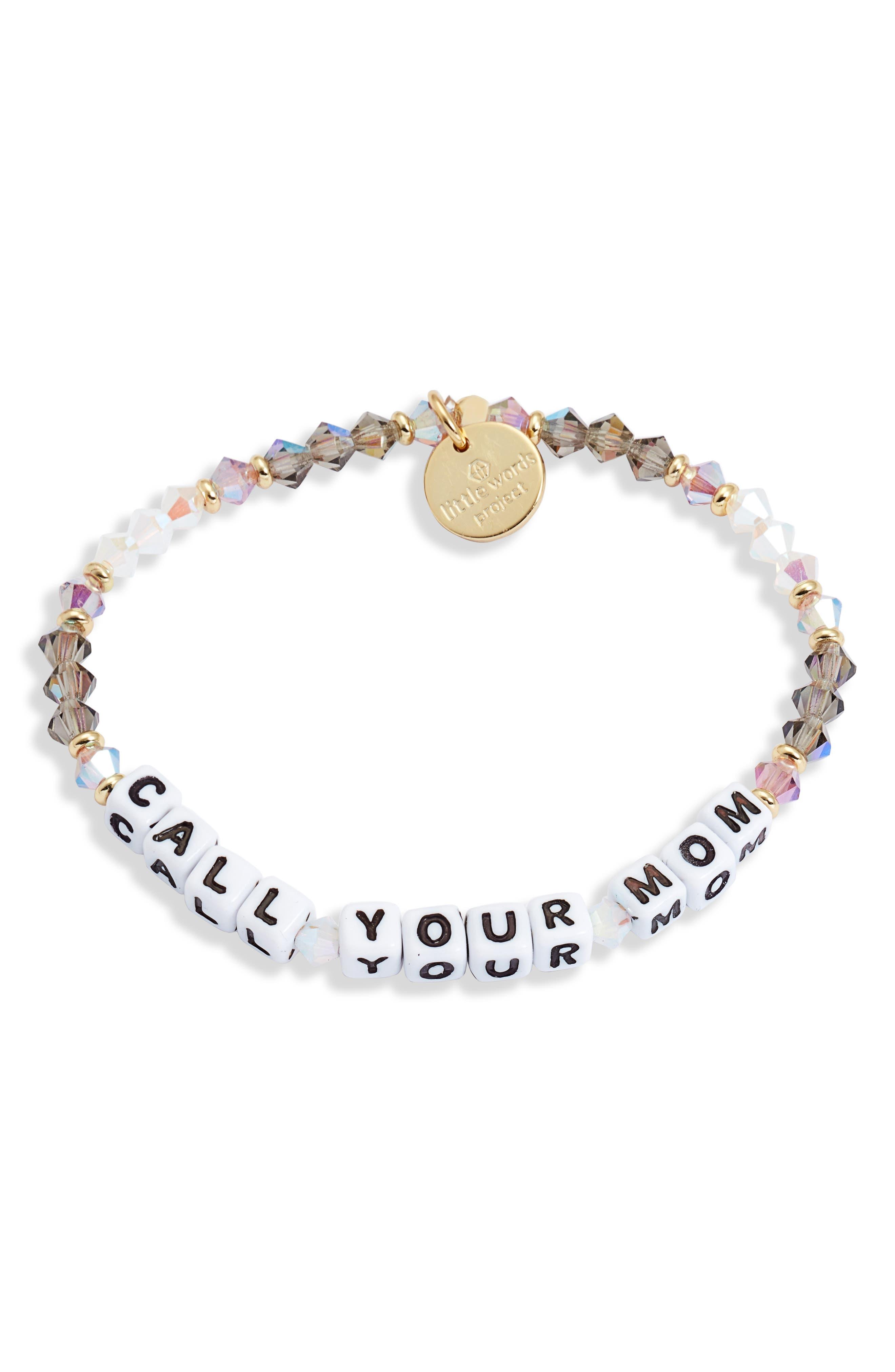 Call Your Mom Beaded Bracelet