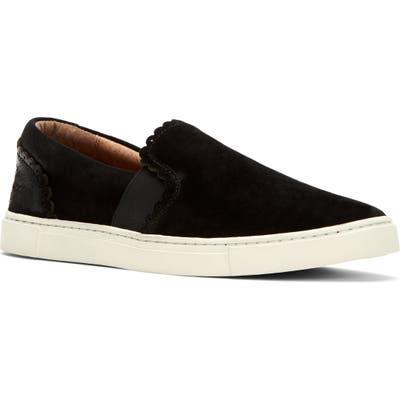 Frye Ivy Scalloped Slip-On Sneaker, Black
