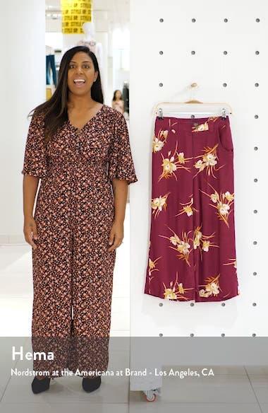 Floral Print Crop Pants, sales video thumbnail
